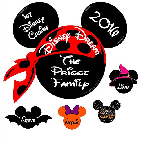 Custom Disney inspired Cruise Magnet Halloween - Personalized Door Magnet - Sign -