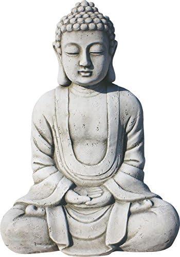 ARTESANIAROCA Buda de Piedra Artificial para el Jardín. Muy Decorativo. Modelo Dharma, 38cm Altura, 12kg: Amazon.es: Jardín