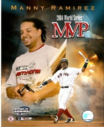 Manny Ramirez 2004 World Series MVP Red Sox 8x10 Photo (Ramirez Manny Player)
