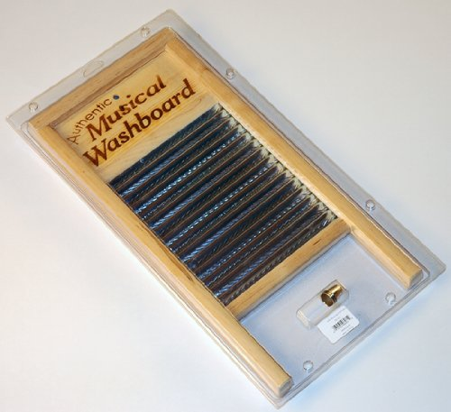 NEW NEW 18'' CAJUN ZYDECO MUSICAL WASHBOARD SET W/ THIMBLES by Unknown