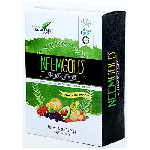Neemtree Organics Neem Gold ( 4-1-2 ) Organic, Vegan Neem Seed Meal Fertilizer (5lb)