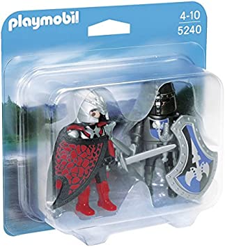 PLAYMOBIL Duo Pack - Duelo de Caballeros, Juguete Educativo, 4 x ...