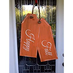Happy fall door hanger, happy fall door tags, fall door decor, fall front porch