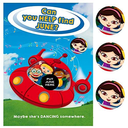 Help June - Little Einstein Themed Pin Party Supply -