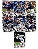 2017 Topps Atlanta Braves Complete Master Team Set of 27 Cards (Series 1, 2, Update): Dansby Swanson(#87), Adonis Garcia(#129), Jace Peterson(#133), Mike Foltynewicz(#228), Freddie Freeman(#244), Julio Teheran(#278), Tyler Flowers(#282), Matt Kemp(#295), Arodys Vizcaino(#300), Jim Johnson(#374), Ender Inciarte(#399), R.A. Dickey(#409), Matt Wisler(#420), Mauricio Cabrera(#455), Brandon Phillips(#521), Nick Markakis(#531), Atlanta Braves(#572), Bartolo Colon(#573), Matt Kemp(#639), plus more