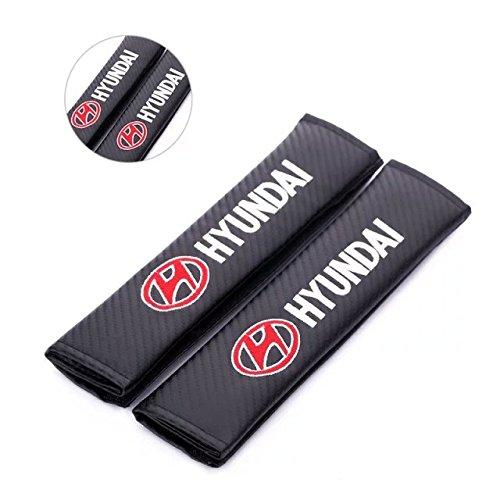 Amooca Car Safety Seat Belt Shoulder Comfortable Pads Covers Cushion For Hyundai with logo (Seat Belts Hyundai)