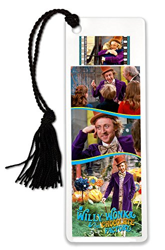 Willy Wonka and the Chocolate Factory FilmCells Bookmark with Tassel and 35mm movie film cell Film Cell Factory