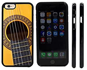 Rikki KnightTM Guitar Design iPhone 6 Case Cover (Black Rubber with front bumper protection) for Apple iPhone 6