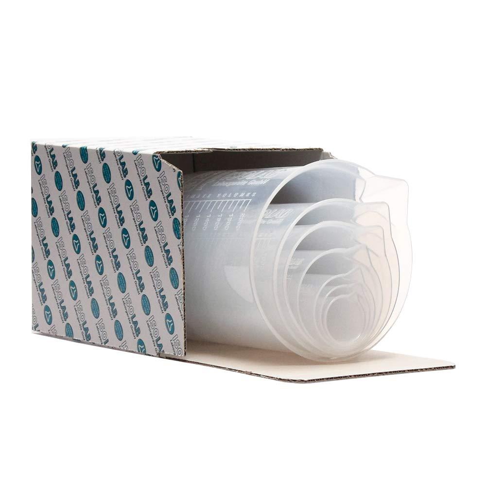 25 mL Autoclavable 100 mL High Clarity ISOLAB USA 7 Pieces Premium Laboratory Plastic Beaker Set 500 mL 1000 mL 2000 mL 250 mL 50 mL Raised Graduations Polypropylene