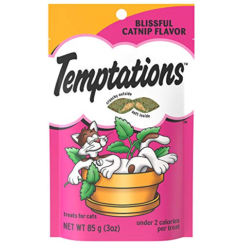 (Temptations Classic Treats For Cats Blissful Catnip Flavor 3 Ounces (Pack Of 12))