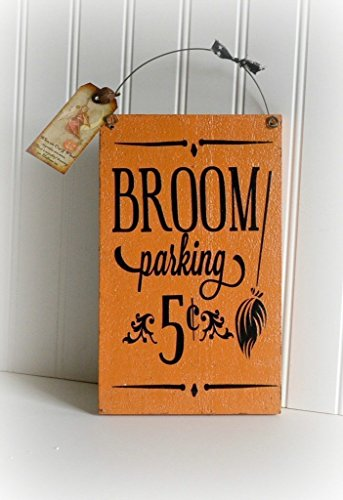 wooden-witch-halloween-hanging-broom-hallowen-sign-decoration-free-shipping