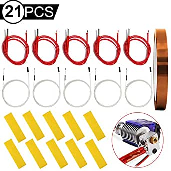 DAOKI - Cartucho calefactor de 24 V 40 W con termistor NTC 100K ...