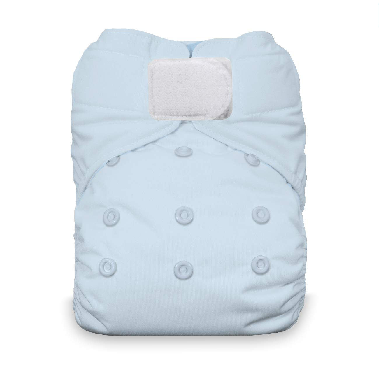 Ice Blue Thirsties Natural One Size All in One Cloth Diaper Hook /& Loop Closure