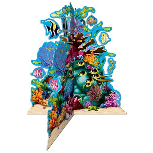 Beistle 57323 3D Coral Reef Centerpiece, 10-Inch (Value 3-Pack) ()