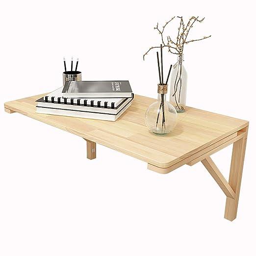 Plegable pared Montado en mesa de madera maciza Cocina Mesa de ...