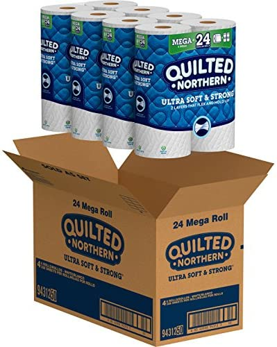 Quilted Northern Ultra Soft & Strong Toilet Paper, 24 Mega Rolls = 96 Regular Rolls