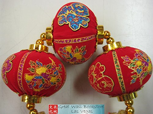 Chinese New Year Decorative Good Luck Hanging w/Chinese Charaters ''Prosperity'' size 26.0'' Long (measured from top to bottom excluding tassels)