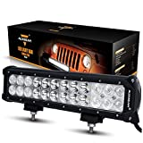 "Auxbeam 12"" 72W LED Light Bar 7200lm Combo Beams 24pcs 3W CREE Driving Light Waterproof for Jeep off road Van Camper Wagon ATV AWD SUV 4WD 4x4 Pickup Van Off-road"