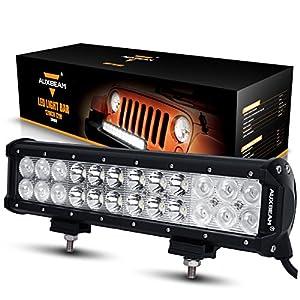 "Auxbeam LED Light Bar 12"" 72W CREE LED Light 24pcs 3W CREE Driving Light Combo Beam Waterproof for Off-road 4x4 Truck Military Mining Heavy Equipment"