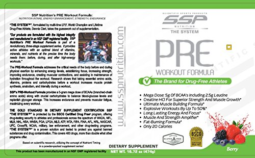 The SYSTEM Workout Formula, BSCG Certified Drug Free, by SSP Nutrition