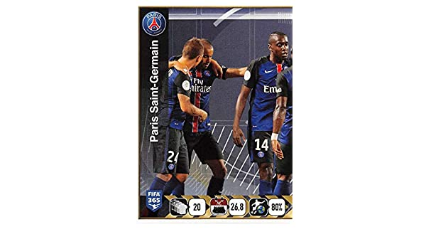 Amazon.com: 2015-16 Panini FIFA 365 Stickers Soccer #447 Paris Saint-Germain Team/1 Trading Card Sized Album Sticker: Collectibles & Fine Art