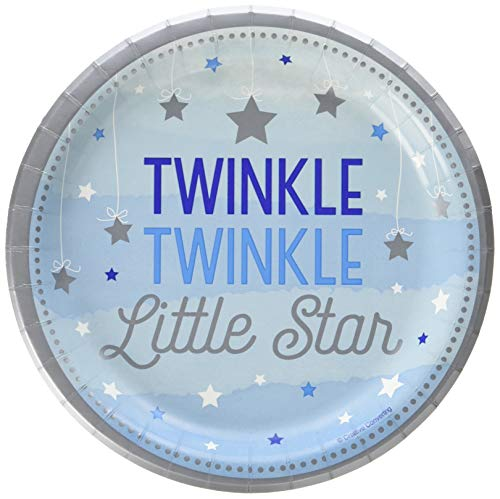 Creative Converting 323422 Twinkle Little Star Dessert Plates Party Supplies, 7