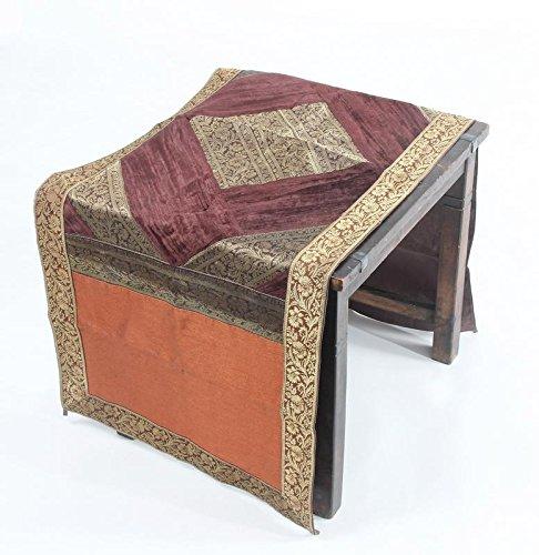 IndianテーブルランナーセットBrocadeシルク高級ターコイズテーブルウェアPlaceマット( jth-ntr-64 )   B078KQFYHJ