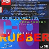 DHS C8 Pips-Long (Out) Table Tennis Rubber, Double Happiness (DHS)