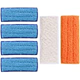 Uspacific 6 Pieces Washable Mopping Pads,Microfiber Mopping Cloth for iRobot Braava Jet 240 241 mop robot Replaceable cleaning cloth