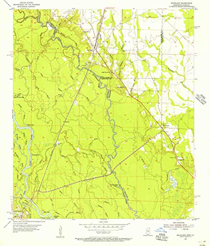 YellowMaps Nicholson MS topo map, 1:24000 Scale, 7.5 X 7.5 Minute, Historical, 1955, Updated 1956, 26.7 x 22.9 in - Polypropylene ()
