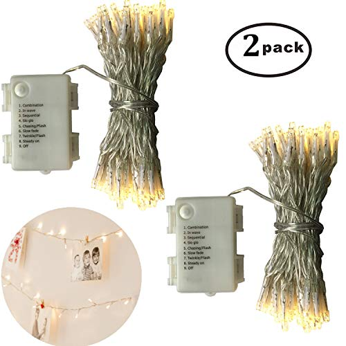 Battery Operated Outdoor Christmas Trees: 2 Pack Battery Operated Outdoor Christmas Tree String