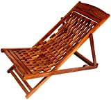 Batra Amazing Hand Carving Garden Wooden Easy Chair (Sheesham Wood)