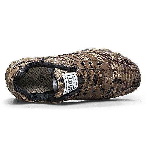 CHNHIRA Homme Chaussure D'Armée Camouflage Chaussure de Course Randonnée en Plein Air Plate-Forme Chaussures 4