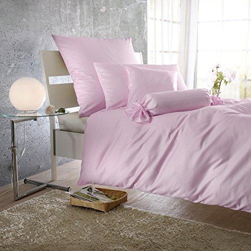 Bettwaren-Shop Uni Mako-Satin Bettwäsche Rosé Quarz Bettbezug einzeln 135x200 cm