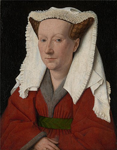 High Quality Polyster Canvas ,the Best Price Art Decorative Canvas Prints Of Oil Painting 'Jan Van Eyck Margaret The Artist's Wife ', 24 X 31 Inch / 61 X 78 Cm Is Best For Garage Decor And Home Decor And Gifts - 80's Personal Trainer Costume