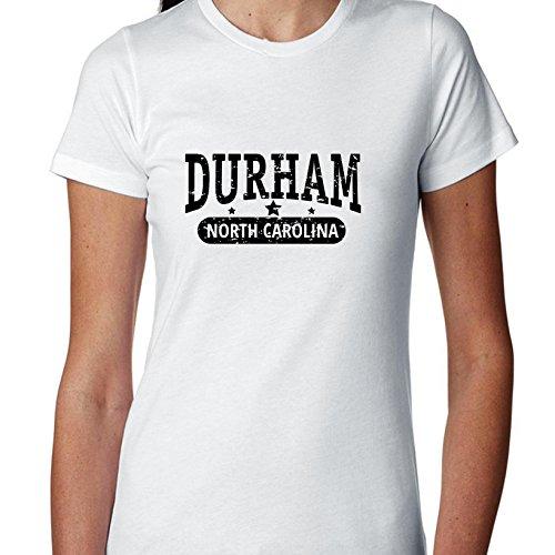 Trendy Durham, North Carolina with Stars Women's Cotton T-Shirt -