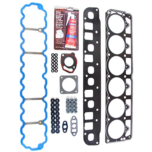 ECCPP Replacement for Head Gasket Set for 1996-1998 Jeep Cherokee Grand Cherokee 1997-1998 Jeep Wrangler 4.0L L6 OHV 12v VIN S Engine Head Gaskets Kit
