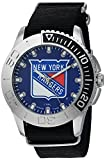 Game Time Men's 'Starter'  Metal and Nylon Quartz Analog  Watch, Color:Black (Model: NHL-STA-NYR)