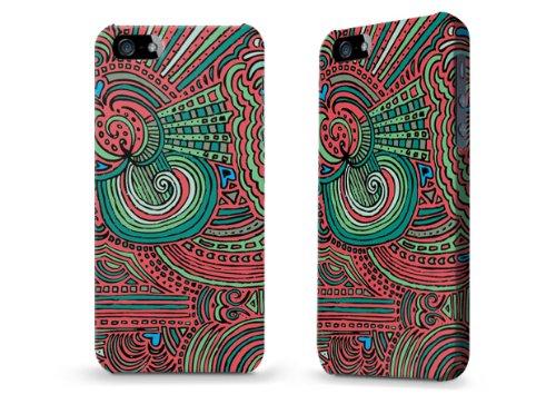 """Hülle / Case / Cover für iPhone 5 und 5s - """"Drawing Meditation Salmon"""" von Kaitlyn Parker"""