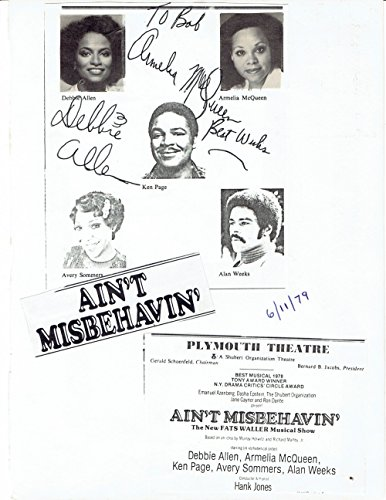 """IN-PERSON AUTOGRAPHS. Original autographs by the American actresses Armelia McQueen and Debbie Allen, the dancer & choreographer who is best known for her work on the television series """"FAME""""."""