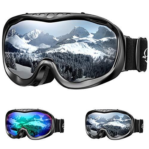 ENKEEO Lunettes de Ski Proteger Les Yeux Visage Masque pour Sport de Plein air Anti-UV Coupe-Vent Anti-Sable Anti-Poussière