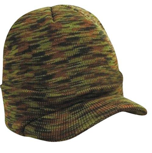 Peaked Tricoter Visière Ski Bonnet Casquette Acvip Unisexe Cool Chaud Chapeau Mode Camouflage Hiver wOWTF4qA