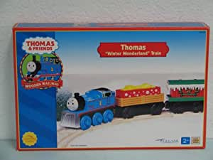 "Thomas ""WINTER WONDERLAND"" Train Thomas & Friends Wooden Trains Very Rare and Retired in 2002"
