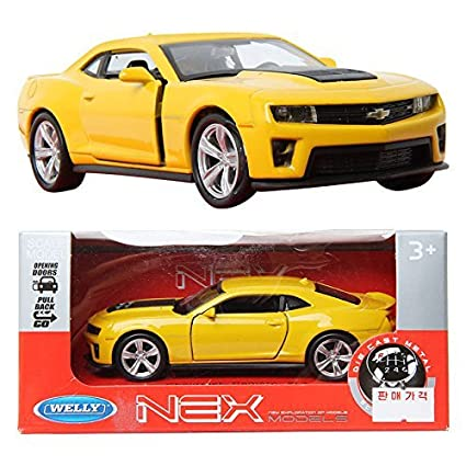 Buy Welly 134 Chevrolet Camaro Zl1 Yellow Die Cast Toy Model Cars