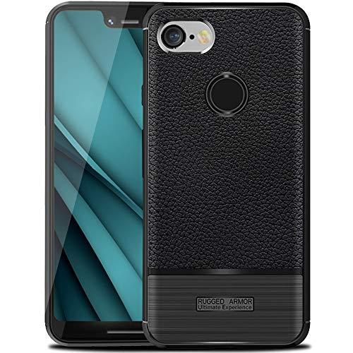 Google Pixel 3 XL Case,Pixel 3 XL Case,Sunnyw Slim Fit Shockproof Soft TPU Case,Light Anti-Fingerprint and Full-Body Protective Cover for Google Pixel 3 XL (Black)