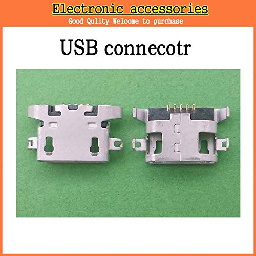 (Gimax 50PCS/LOT New micro USB connector charging port Replacement Parts for Lenovo A670 S650 S720 S820 S658T A830 A850 )