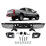 MBI AUTO - Chrome - Steel Rear Step Bumper Assembly for 2004-2008 Dodge RAM 1500 2500 3500 Heavy Duty 04-08 - CH1103111