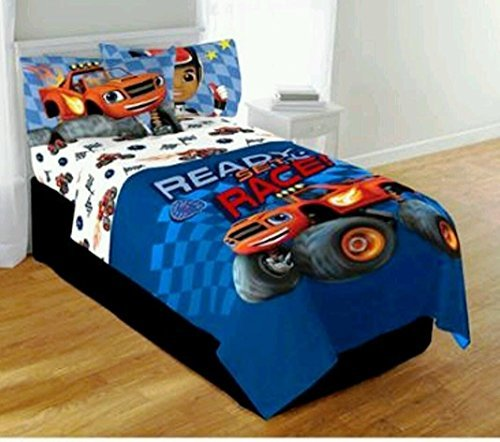 Blaze Monster Machine Truck Twin/full comforter & twin sheets bedding set