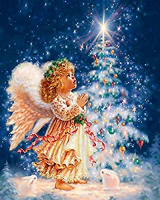 5D Christmas DIY Diamond Painting Kit by Numbers Crystal Embroidery Partial Drill Cross Stitch DIY Art Craft Home Wall Decor 20 x 25cm