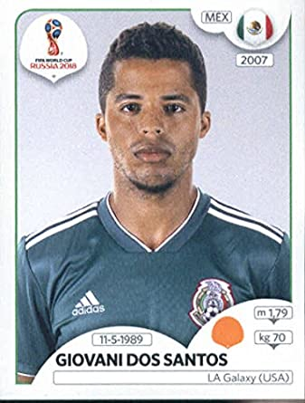 4e26477b8 2018 Panini World Cup Stickers Russia  462 Giovani dos Santos Mexico Soccer  Sticker